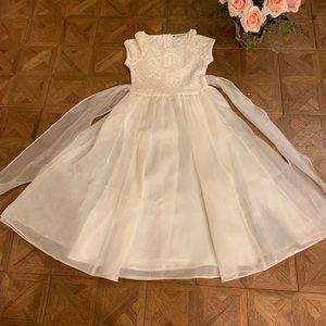Girls Beautiful White Full Length Dress